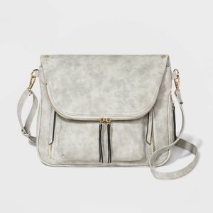 Gray Kimmie Zippered Crossbody Bag - VR NYC NWT